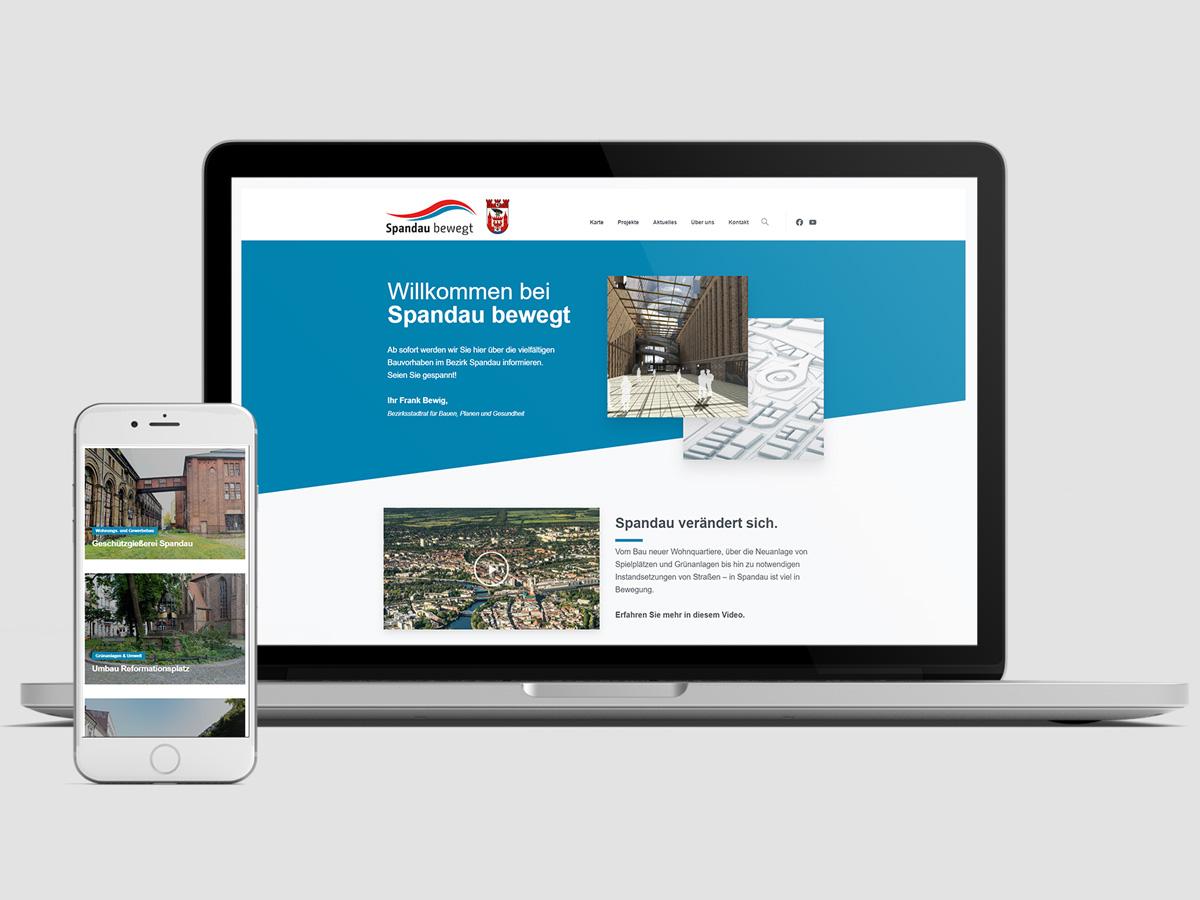 Website für Spandau Bewegt